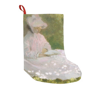 Springtime by Claude Monet Small Christmas Stocking