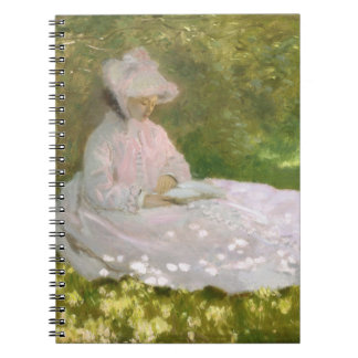 Springtime by Claude Monet Spiral Notebook
