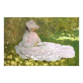 Springtime by Claude Monet Stationery
