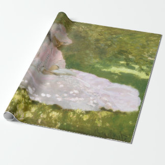 Springtime by Claude Monet Wrapping Paper