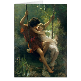 Springtime by Pierre Auguste Cot Card