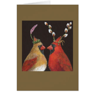 Springtime Cardinals Card