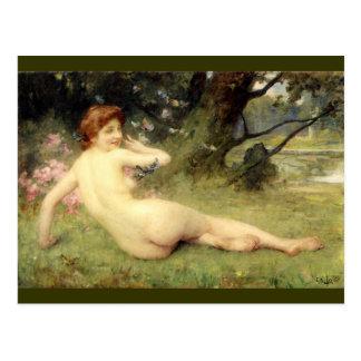 Springtime - Charles Lenoir Postcard