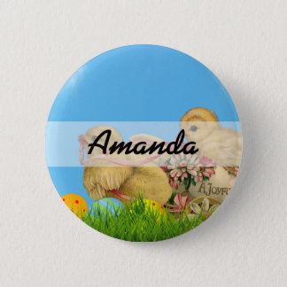 Springtime Easter Chicks 2 Inch Round Button