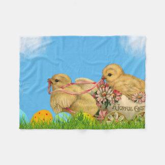 Springtime Easter Chicks Fleece Blanket