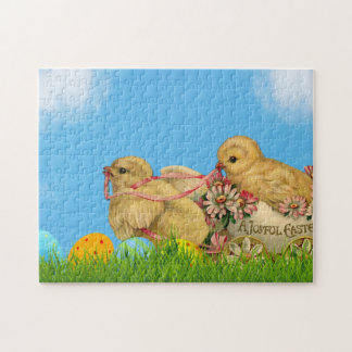 Springtime Easter Chicks Jigsaw Puzzle