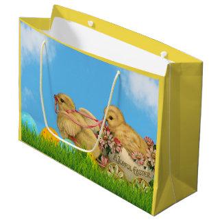 Springtime Easter Chicks Large Gift Bag