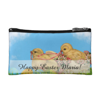 Springtime Easter Chicks Makeup Bag