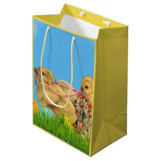 Springtime Easter Chicks Medium Gift Bag