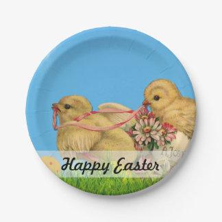 Springtime Easter Chicks Paper Plate