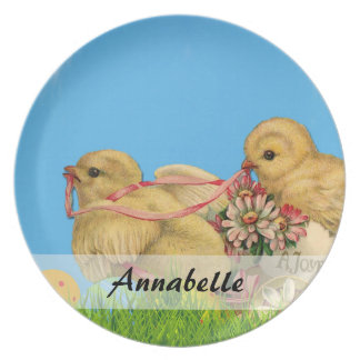 Springtime Easter Chicks Plate