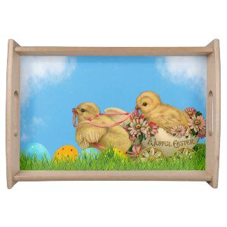 Springtime Easter Chicks Serving Tray