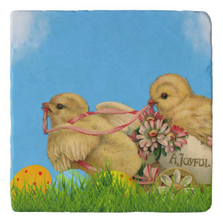 Springtime Easter Chicks Trivet