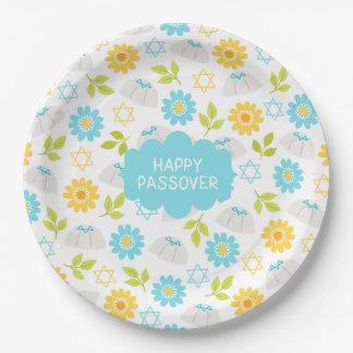 Springtime Floral  Passover Sedar 9 Inch Paper Plate