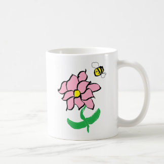 Springtime Flower and Bee Mug