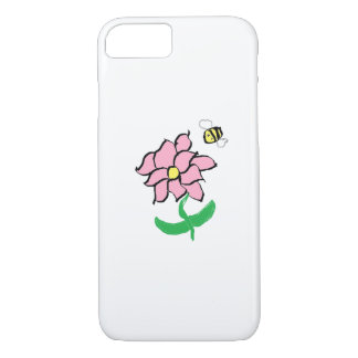 Springtime Flower and Bee Phone Case