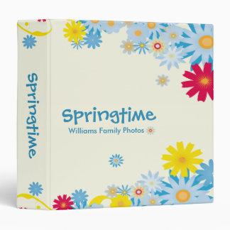 Springtime Flowers 3 Ring Binder