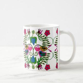 Springtime Folk Art Botanical Mug