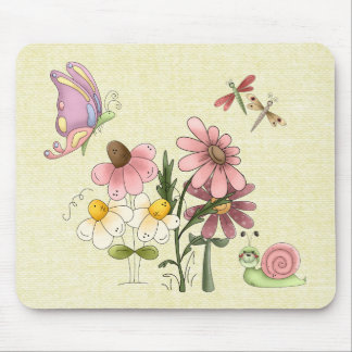 Springtime Friends Mouse Pad