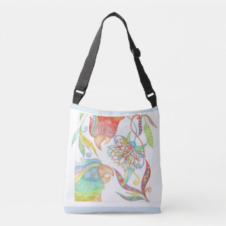 Springtime in Amazonia colourful cross-body bag