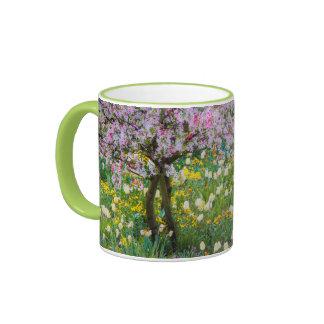Springtime in Claude Monet's garden Ringer Coffee Mug
