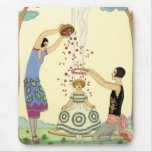 Springtime in France Art Deco Mouse Pad