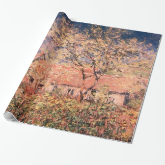 Springtime in Giverny by Claude Monet Wrapping Paper