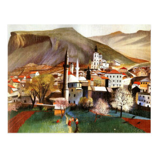 Springtime in Mostar Postcard