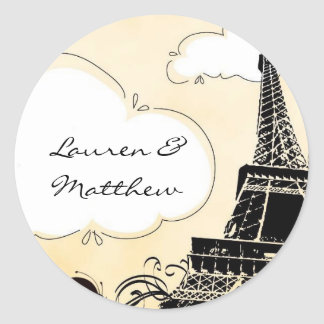 Springtime in Paris Eiffel Tower Classic Round Sticker