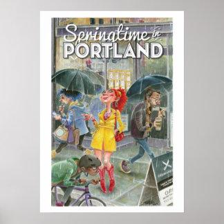 Springtime In Portland-lrg Poster