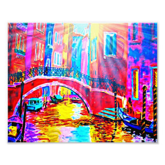 Springtime In Venice Watercolor Art Photo Print