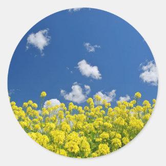 Springtime Meadow Classic Round Sticker