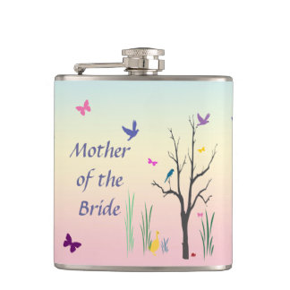 Springtime Mother of the Bride Hip Flask