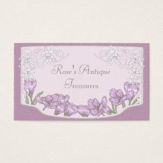 Springtime Purple Crocus Flowers Business Card