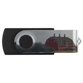Springtime Red Barn Swivel USB 2.0 Flash Drive