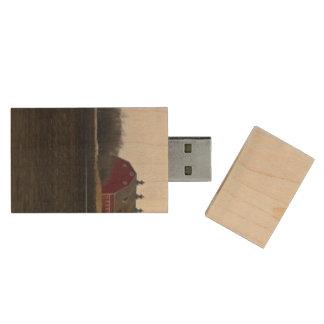 Springtime Red Barn Wood USB Flash Drive