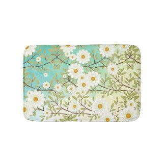Springtime scene bath mat