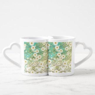 Springtime scene coffee mug set