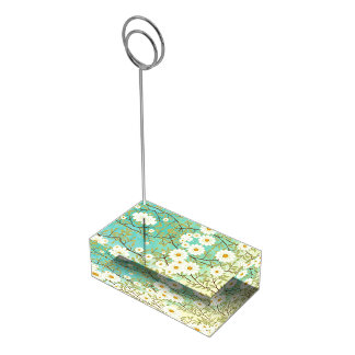 Springtime scene table card holder