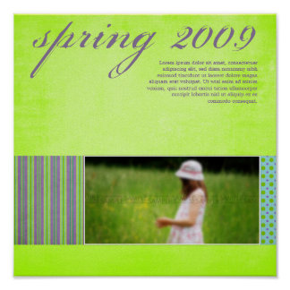 """Springtime"" Scrapbook Page Poster"