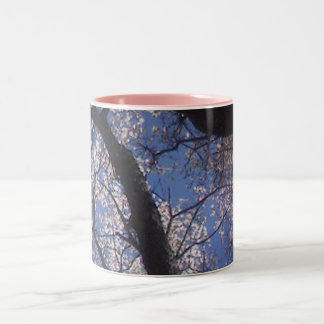 springtime trees Two-Tone coffee mug