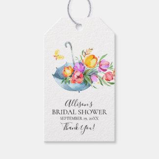 Springtime Tulips Bridal Shower Favor Gift Tag