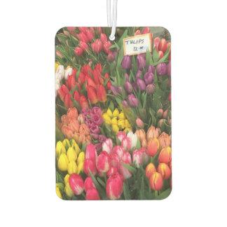 Springtime Tulips Tulip Flower NYC New York City Car Air Freshener