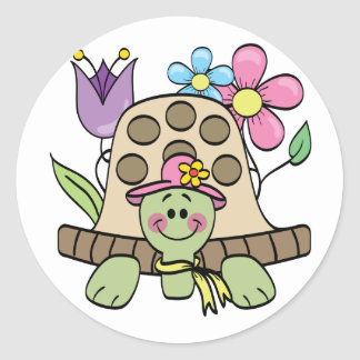 Springtime Turtle Tshirts and Gifts Round Sticker