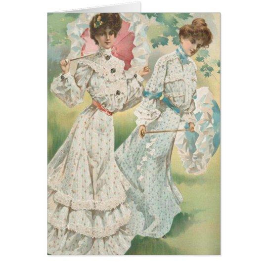 Springtime Victorian Ladies Card