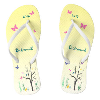 Springtime Wedding Bridesmaid Flip Flops
