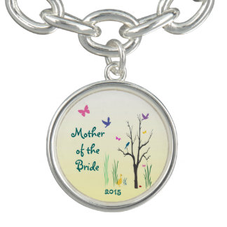 Springtime Wedding Mother of the Bride Charm Bracelet