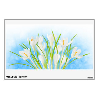 Springtime (white crocuses) wall decal