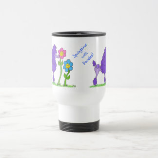 Springtime with Poodles Mug