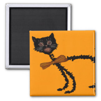 Springy Black Cat Halloween Decoration Magnet